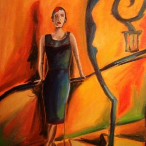 Angle surreal picture, oil on canvas, cm50xcm70,Ferrara 2013