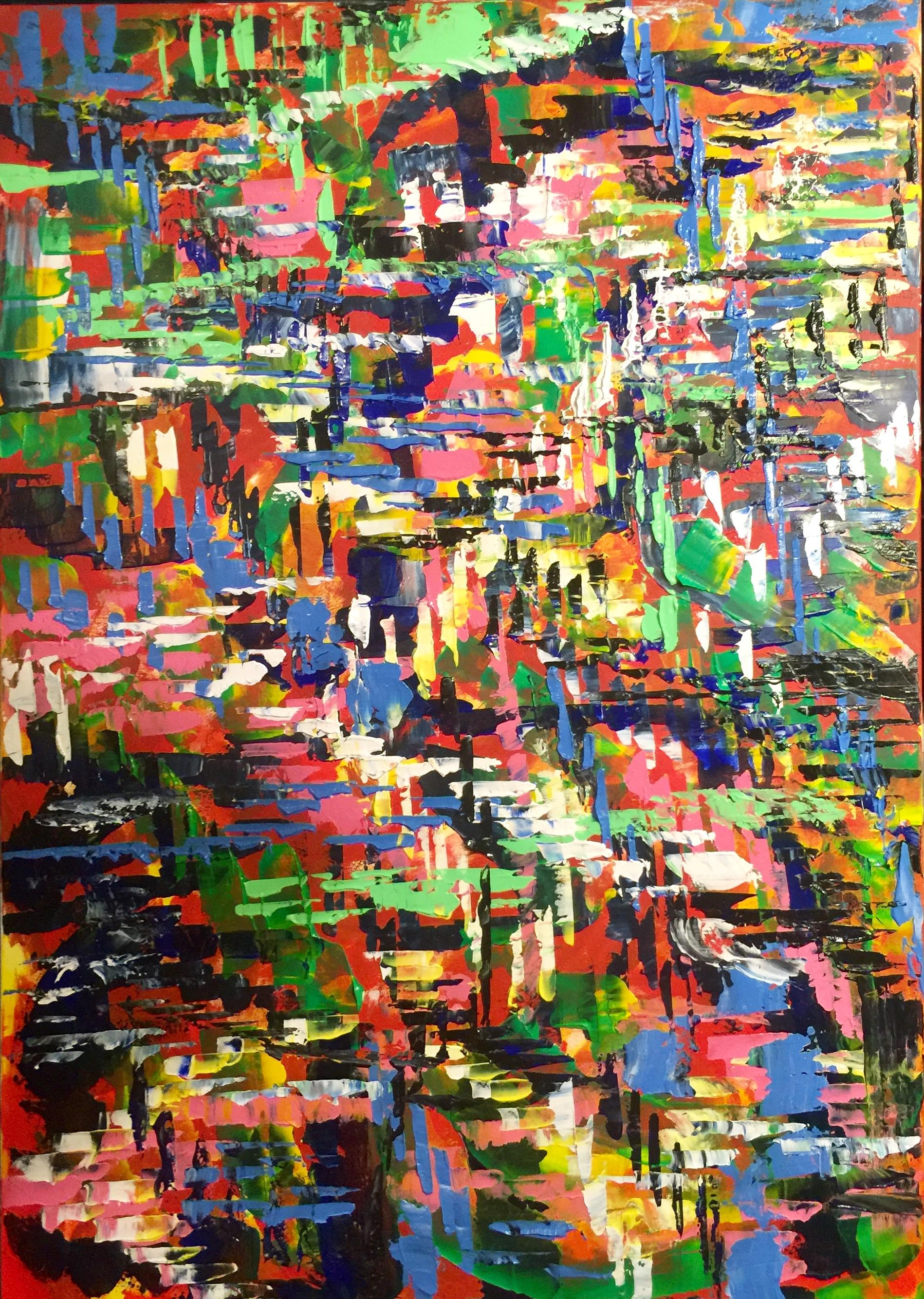 Fantasia, acrilico su tela, cm100xcm70,Ferrara,2019