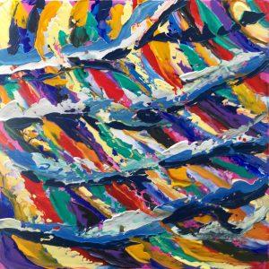 dipingere un bellissimo quadro astratto