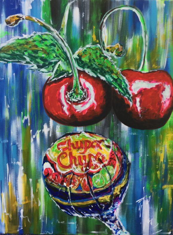 Get physical tonight, acrylic on canvas, cm 60x cm 80, Occhiobello, 2019