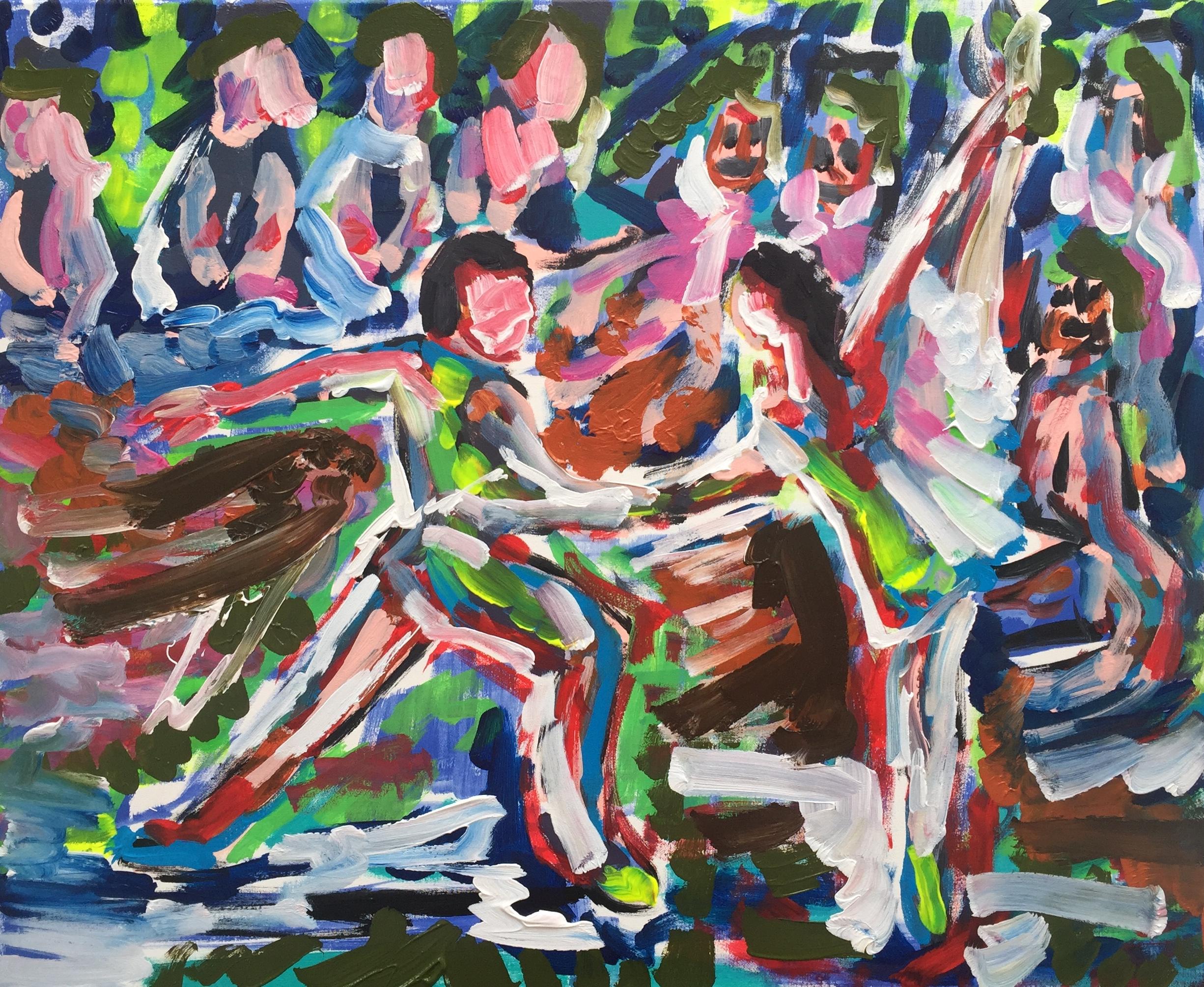Dancing set me free, acrylic on canvas, cm 50 x cm 60, Occhiobello, 2020