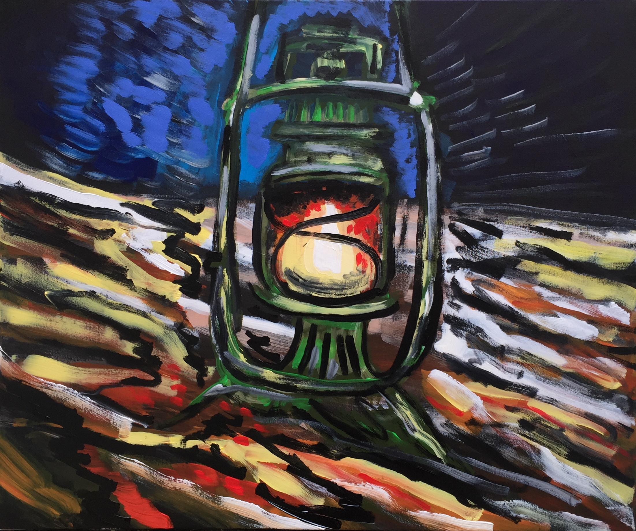 hope in the universe, acrylic on canvas, cm 50 x cm 60, Occhiobello, 2020