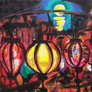 Uror, Verdandi, Skuld, acrylic on canvas, cm 50 x cm 60, Occhiobello, 2020