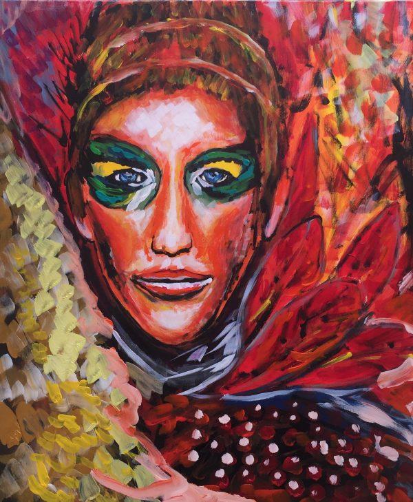 the phoenix, acrylic on canvas, cm 50 x cm 60, Occhiobello, 2020