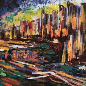kingdom of wisdom, acrylic on canvas, cm 50 x cm 70, Occhiobello, 2020.