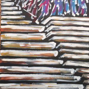 the game of death, acrylic on canvas, cm 50 x cm 60, Occhiobello, 2020.