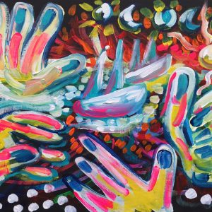 please don't go, acrylic on panel canvas, cm 28 x cm 36, Occhiobello, 2020.
