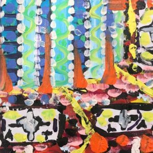 atlas under the sea, acrylic on panels canvas, cm 23 x 31 cm, Occhiobello, 2020