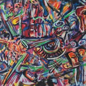 cronos space and time, acrylic on canvas, cm 50 x cm 70, Occhiobello, 2020