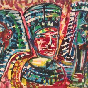 tutankamon king of Egypt, acrylic on canvas, cm 50 x cm 70, Occhiobello, 2020.