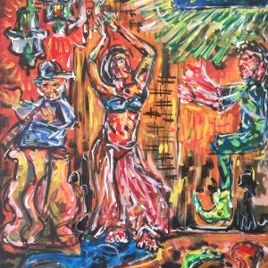 one thousand and one nights, acrylic on canvas, cm 50 x cm 70, Lido delle Nazioni, 2020