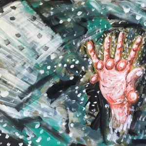 orgasm between us, acrylic on canvas, cm 50 x cm 70 , Lido delle Nazioni, 2020