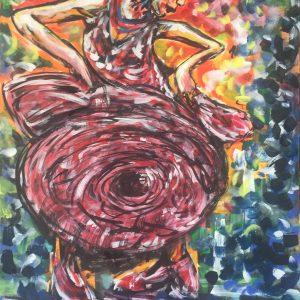Dancing queen, acrilico su tela, cm 50 x cm 70 , Lido delle Nazioni, 2020
