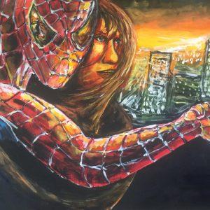 The amazing Spiderman 2 , acrilico su tela, cm 50 x cm 70 , Lido delle Nazioni, 2020