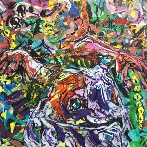 belly dance, acrilico sulla tela , cm 50 x cm 70 , Lido delle Nazioni , 2020