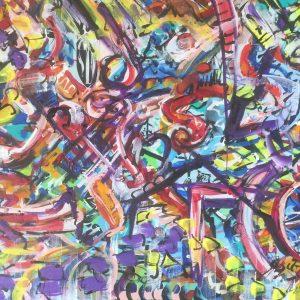 Si bemolle, acrylic on canvas , cm 50 x cm 70 , Lido delle Nazioni , 2020