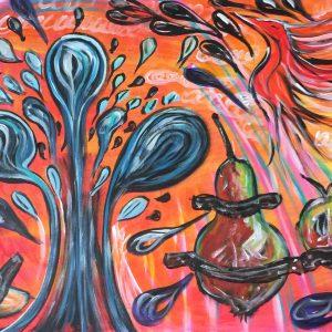 Fruttacqua acqua , acrylic on canvas , cm 50 x cm 70 , Lido delle Nazioni , 2020