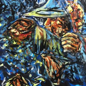 Against the dark , acrylic on canvas , cm 50 x cm 60 , Lido delle Nazioni , 2020